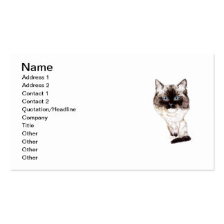 Ragdoll Caricature Double-Sided Standard Business Cards (Pack Of 100)