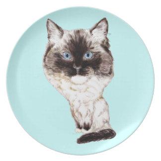 Ragdoll Caricature Dinner Plate