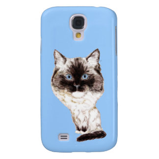 Ragdoll Caricature Galaxy S4 Case