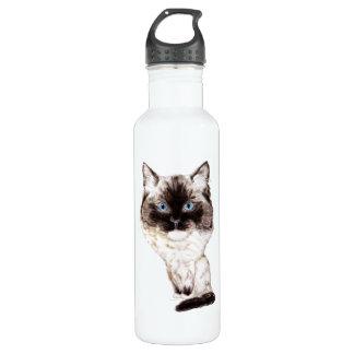 Ragdoll Caricature Stainless Steel Water Bottle