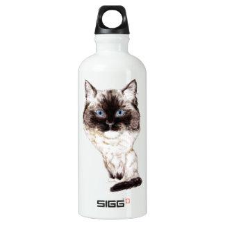 Ragdoll Caricature Water Bottle