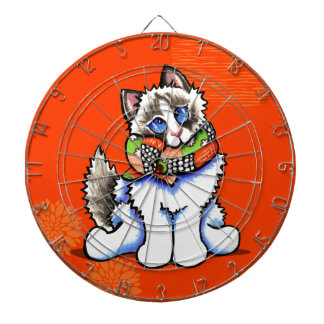 Ragdoll Cat All Dolled Up Dartboard With Darts