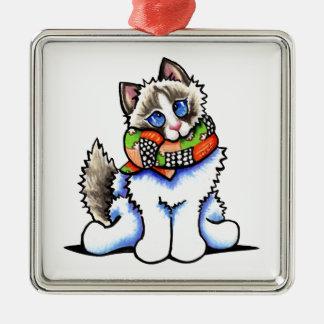 Ragdoll Cat All Dolled Up Metal Ornament