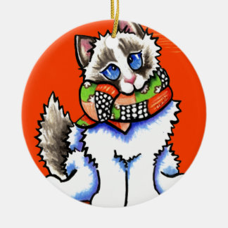 Ragdoll Cat All Dolled Up Ornament