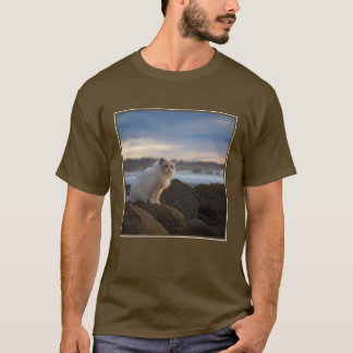 Ragdoll Cat At The Beach T-Shirt