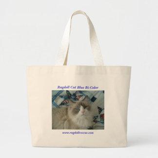 Ragdoll Cat Blue Bi-Color Canvas Bags