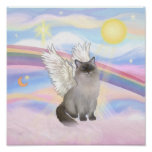 Ragdoll Cat (Blue Point) Angel - Clouds Poster