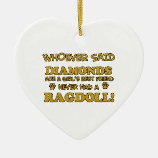 Ragdoll cat breed designs ornament