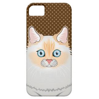 Ragdoll Cat Cartoon (Flame-Point) iPhone SE/5/5s Case