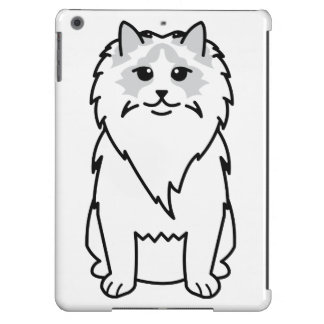 Ragdoll Cat Cartoon iPad Air Cover