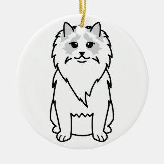 Ragdoll Cat Cartoon Christmas Tree Ornament