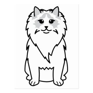 Ragdoll Cat Cartoon Postcard