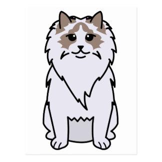 Ragdoll Cat Cartoon Post Card