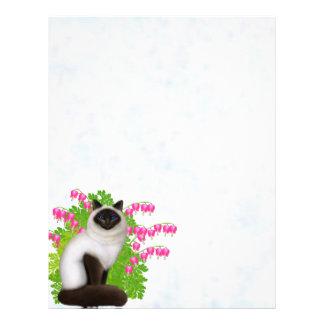 Ragdoll Cat in Bleeding Hearts Letterhead