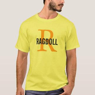 Ragdoll Cat Monogram Design T-Shirt