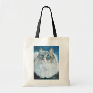 Ragdoll Cat Oil Painting by Kate Marr Bag