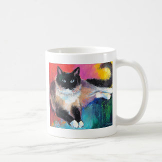 ragdoll cat painting 2 Novikova Coffee Mug