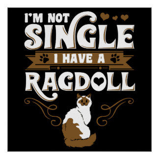 Ragdoll Cat Quotes Poster