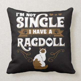 Ragdoll Cat Quotes Throw Pillow