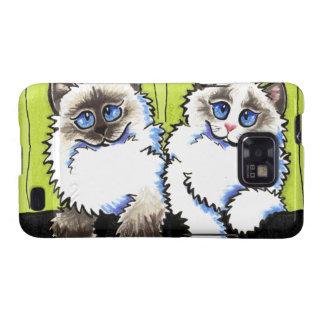 Ragdoll Cats Pair of Dolls Off-Leash Art™ Samsung Galaxy SII Cover