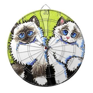 Ragdoll Cats Pair of Dolls Off-Leash Art™ Dartboards