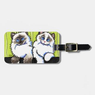 Ragdoll Cats Pair of Dolls Off-Leash Art™ Bag Tags