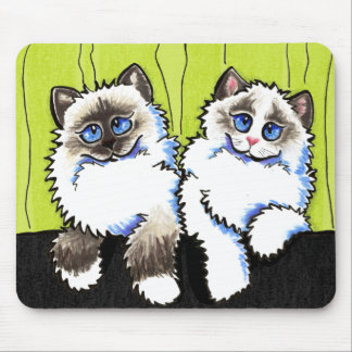 Ragdoll Cats Pair of Dolls Off-Leash Art™ Mouse Pad
