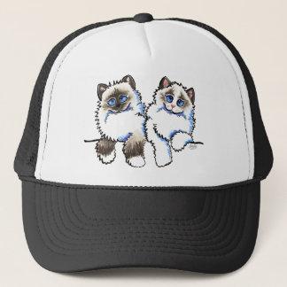 Ragdoll Cats Pair of Dolls Off-Leash Art™ Trucker Hat