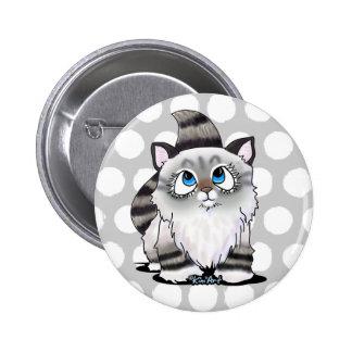 Ragdoll Cutie Face Kitten 2 Inch Round Button