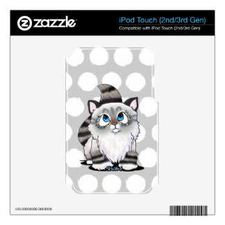 Ragdoll Cutie Face Kitten Decal For iPod Touch 3G