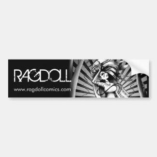 """Ragdoll """"Dark Power"""" Bumper Sticker"""