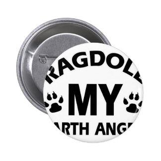 Ragdoll  design 2 inch round button