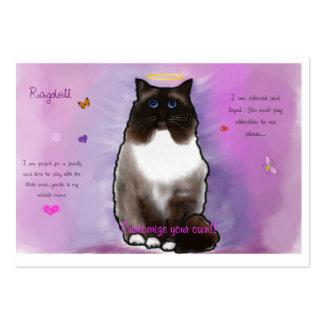 Ragdoll hermoso dulce tarjetas de visita grandes