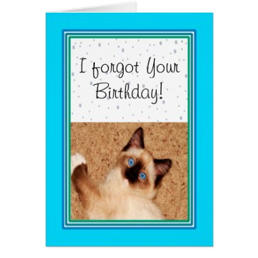 USA Themed Ragdoll Kitten Happy Belated Birthday Card