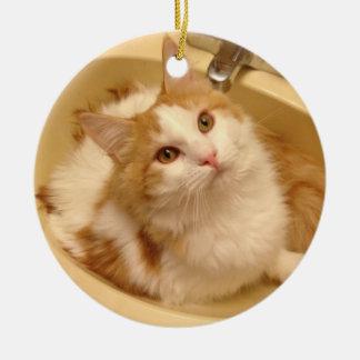 Ragdoll Kitten in Sink Ornaments