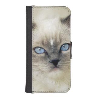 Ragdoll kitten wallet phone case for iPhone SE/5/5s