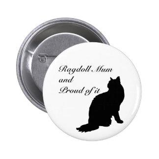Ragdoll Mum 2 Inch Round Button