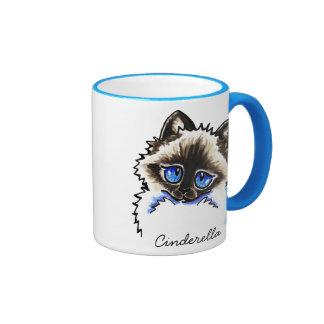 Ragdoll Ragamuffin Pet Name Personalized Ringer Mug