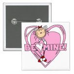 Ragdoll sea tarjeta del día de San Valentín de la  Pin Cuadrada 5 Cm