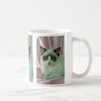 Ragdoll, sello bicolor taza de café