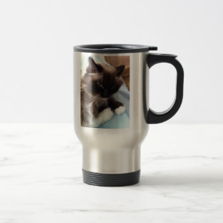 Ragdoll sulk travel mug