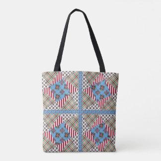 Ragdoll Twisted Star Quilt Tote Bag