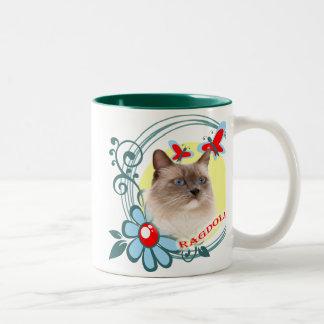 Ragdoll with Red Butterflies Coffee Mugs