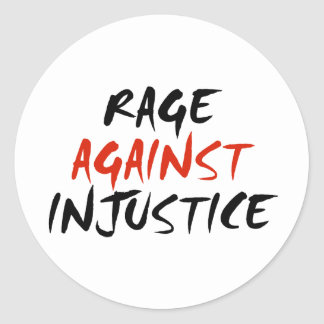 Rage Against Injustice Classic Round Sticker