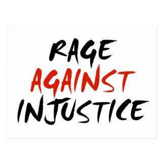 Rage Against Injustice Postcard