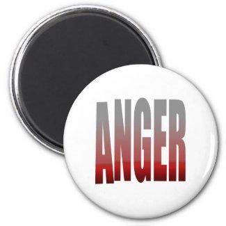 rage - anger 2 inch round magnet
