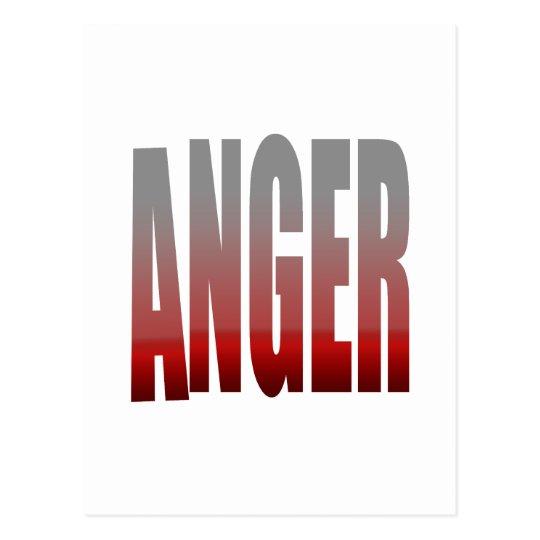 rage - anger postcard