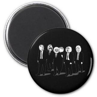 rage comic meme faces walking 2 inch round magnet