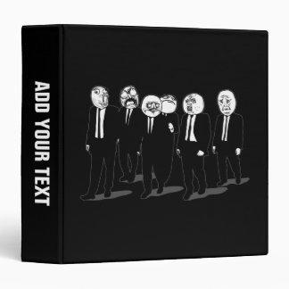 rage comic meme faces walking vinyl binders
