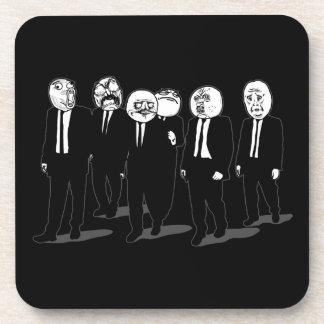 Rage Comic Meme Faces Walking. Me Gusta. Beverage Coaster